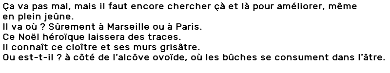 texte accent